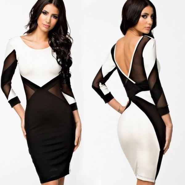 Dámské šaty s geometrickými vzory Nella - rafinovaně sexy!