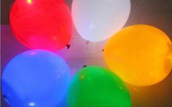 LED svítíci balónky 5 ks mix barev