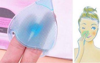 Silikonový kartáček na čištění pleti!