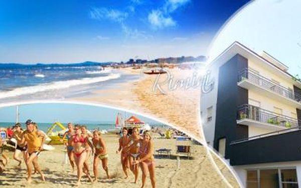 ITÁLIE - RIMINI na 8 dní pro 1 osobu s POLOPENZÍ v hotelu 300 m od písečné pláže s možností výhodné dopravy!