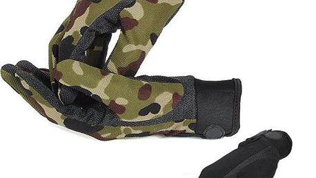 Zateplené pánské rukavice na motocykl