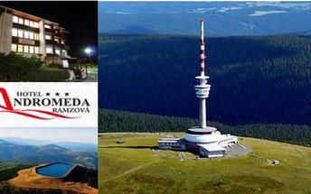 JESENÍKY letní termíny horský hotel Andromeda*** 4 dny pro 2 s polopenzí, whirpoolem a vínem