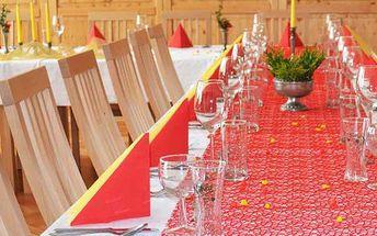 30% sleva na pořádání akcí v Hukvaldské restauraci