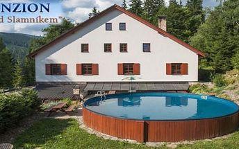 JESENÍKY - 4 dny pro 2 se snídaní a bazénem v Dolní Moravě v penzionu Pod Slamníkem - volné termíny!