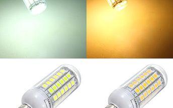 5,5 W LED žárovka s 69 LED diodami - 2 barvy světla (patice E14)
