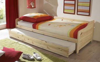 Dětská postel s přídavným spaním