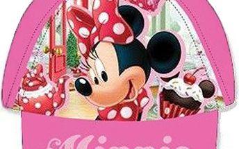 Dívčí světle růžová kšiltovka Minnie