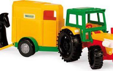 Traktor s vlečkami plast 38 cm - 2 druhy