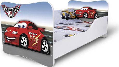 Dětská postel červené Auto 2