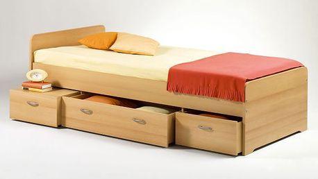 Dětská postel Tereza s třemi úložnými zásuvkami