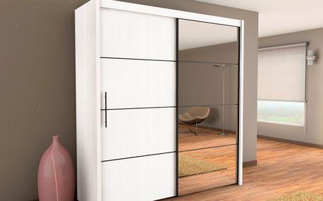 Smartshop Skříň s posuvnými dveřmi INNOVA 150, bílá - DOPRODEJ