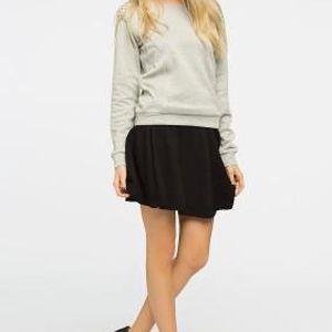 Only - Sukně Loop Skater Skirt - černá, S