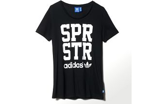 Adidas originals Superstar Big Letter Tee Black, černá, 38