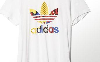 Adidas originals Super Logo Tee White, bílá, 36