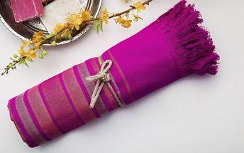 Hamam osuška Cotton Loincloth Violet Two, 75x170 cm
