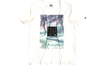 Quiksilver Garment Dyed Tee Hunter Snow White, bílá, XL