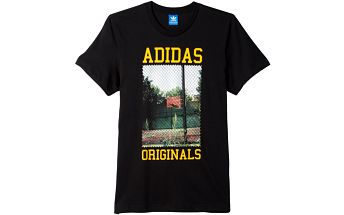 Adidas originals Court Photo Tee Black, černá, L