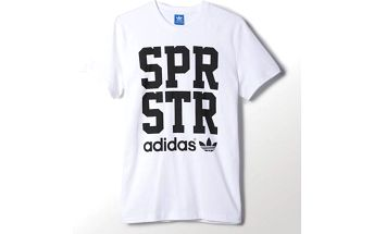 Adidas originals Spr Graphic Tee White, bílá, L