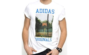 Adidas originals Court Photo Tee White, bílá, XXL