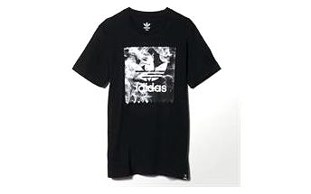 Adidas originals Burned Stamp T Black, černá, L