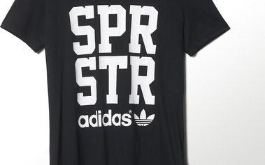 Adidas originals Superstar Big Letter Tee Black, černá, 38