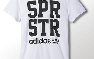 Adidas originals Spr Graphic Tee White, bílá, L