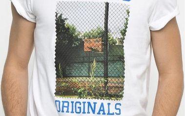 Adidas originals Court Photo Tee White, bílá, XXL