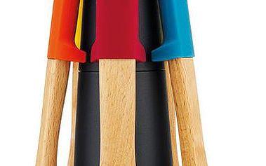 Rotační stojan s nástroji Elevate Wood Carousel, barevný