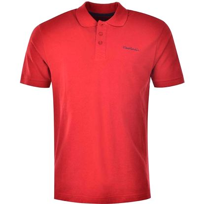 Pierre Cardin Plain Polo Mens 549122_red