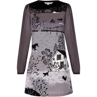 YUMI Dámské šaty YOSD79 _Grey