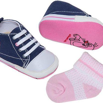 Dívčí set - capáčky a ponožky s Krtečkem