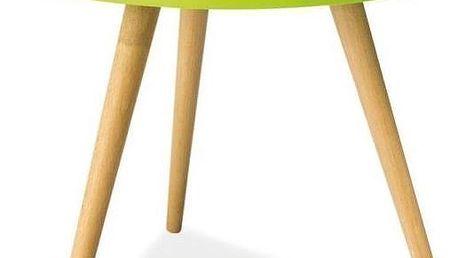 Konferenční stolek Toni 50 cm, zelený - doprava zdarma!