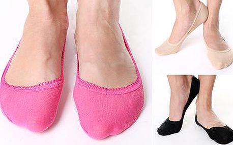 12 párů barevných bambusových ponožek do balerínek