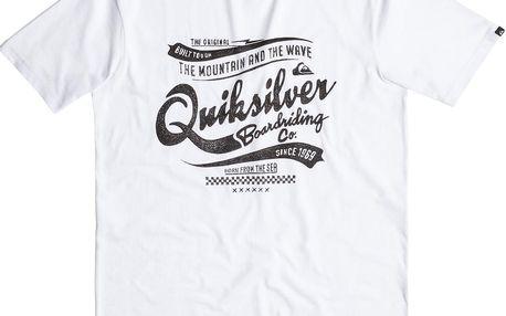 Quiksilver Classic Tee Barber Shop White, bílá, XL