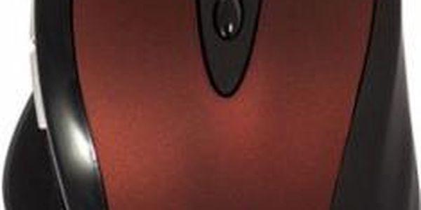 Drátová myš Defender Opera 880, černá-červená