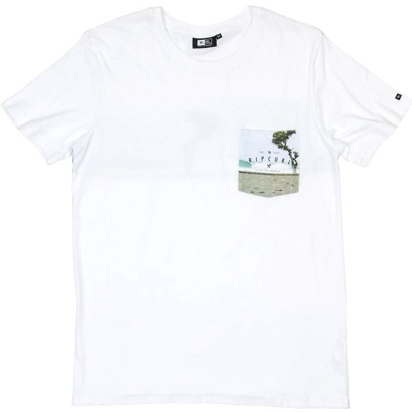 Rip Curl Empty Line Tee Optical White M, bílá, M