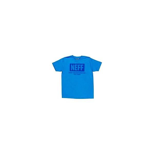 Neff New World Tee Turquoise M, modrá, L
