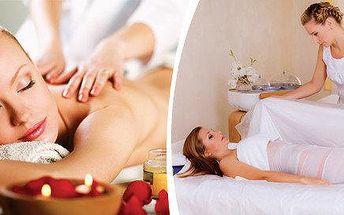 Relaxační masáž zad a šíje s jalovcovým zábalem
