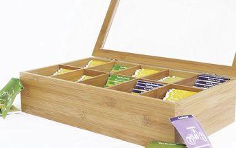 Bambusová krabička na čaje Bonte