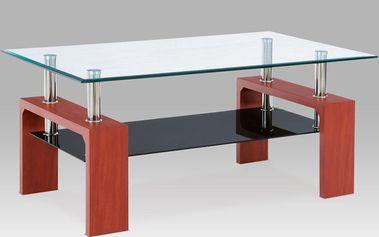 Autronic Konferenční stůl AF-1022 TR2 třešeň/sklo
