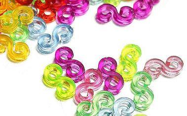 Plastové spony pro výrobu gumičkových náramků - 240 ks