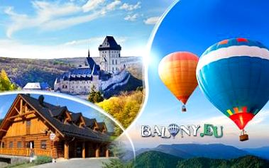 Hodinový LET BALÓNEM s možností ubytování na 1 noc ZDARMA! Lokality po celé ČR a na západním Slovensku!