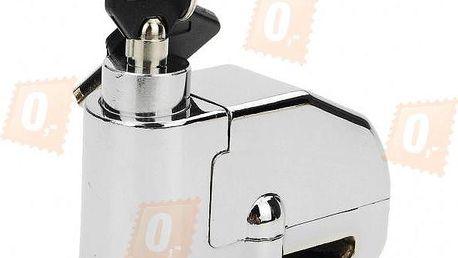 Ocelový zámek na kotoučovou brzdu s alarmem s otřesovým čidlem