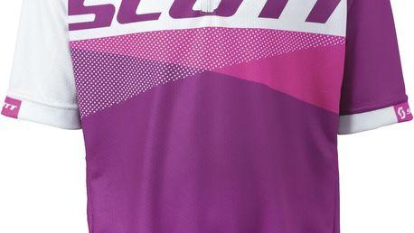 Dětský dres Scott Shirt JR RC s/sl wh/Berry pur,