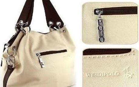 Dámská kabelka WeidiPolo vč. doručení v hnědé, béžové nebo růžové barvě