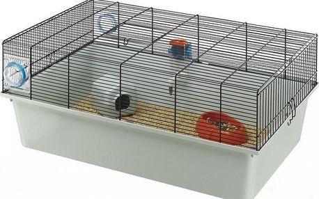 Prostorná klec pro křečky, myši či potkany s vysokým plastovým dnem Ferplast Kios