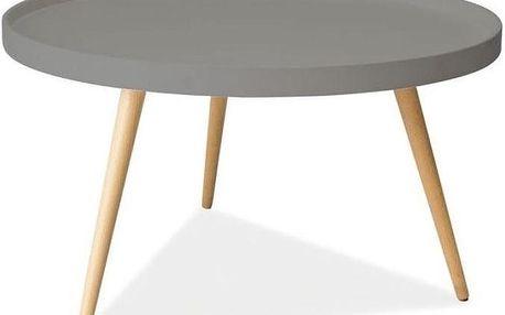 Konferenční stolek Toni 78 cm, šedý - doprava zdarma!