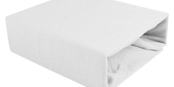 NOVIA Prostěradlo Jersey, 60x120cm, bavlna, Barva Bílá