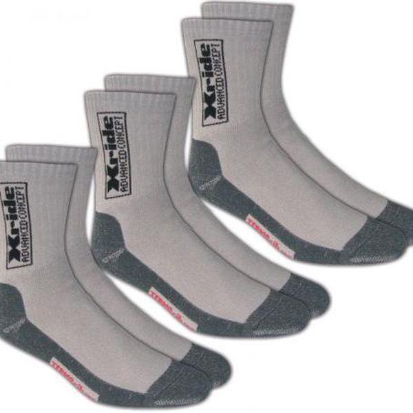 NOVIA Ponožky Silvertex Xride - 3 páry, Ponožky - velikost 26-27