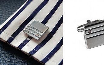 Luxusní manžetové knoflíčky z ušlechtilé oceli ( 2 kusy) dodá elegantnost každému muži - ideální doplňek ke společenským šatům!